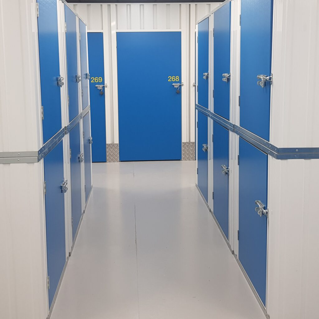 Lockers and units available for self-storage clients.